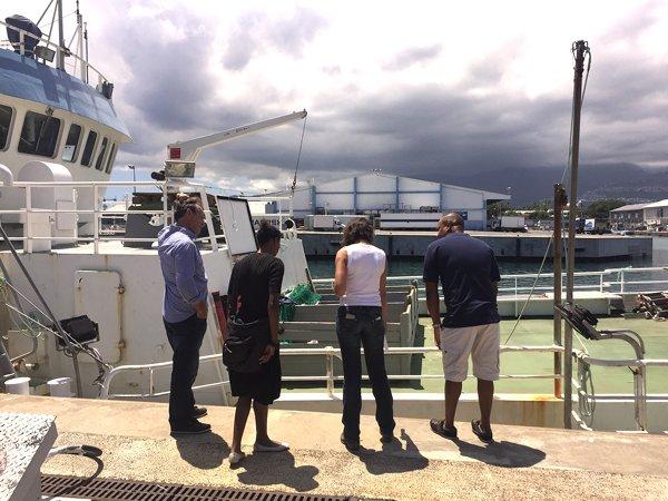 SAPMER REUNION-Visite des navires a quai semaine MSC
