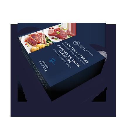 Visuel packaging SAPMER pack steak thon x2