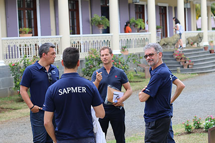 Edgar Grospiron avec l'équipe Sapmer île Maurice