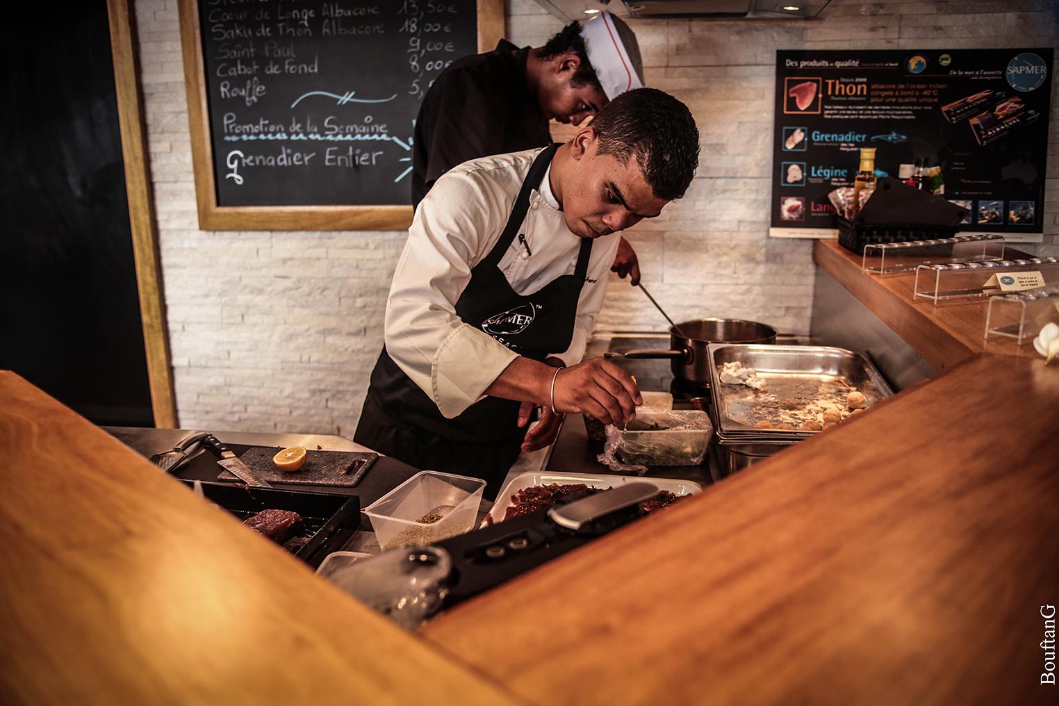 Chief cook Mathieu Henriette Comptoir Sapmer