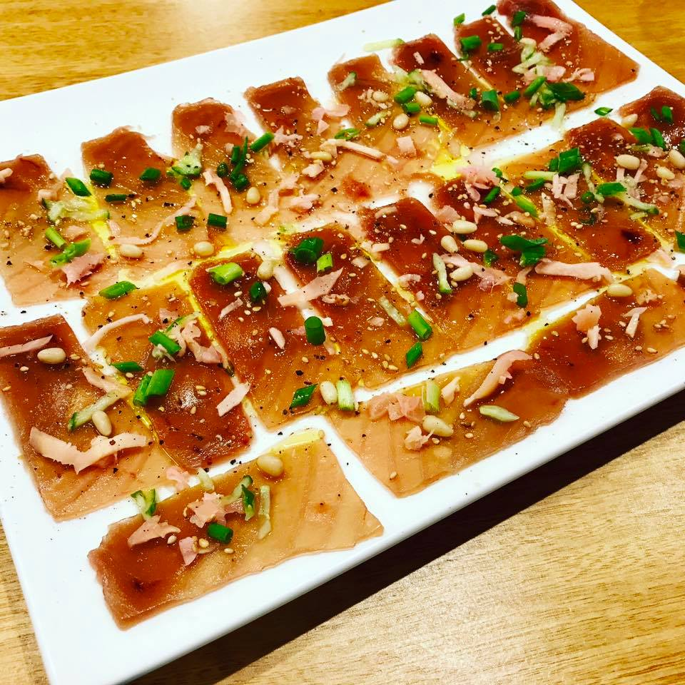 Ahi tuna carpaccio by Sapmer