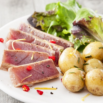 Recette steak de thon au citron et romarin