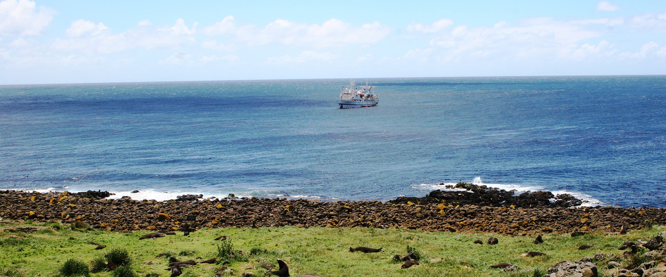 Paysage rivage navire SAPMER