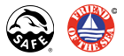 Logos certification Dolphin Safe et Friend of the Sea